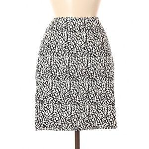 Ann Taylor Printed Cotton Skirt